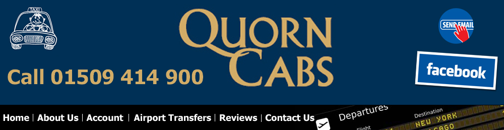 Image of logo for Quorn Cabs, the leading airport transfers company in Quorn, Charnwood, Leicestershire